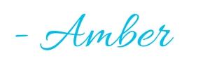 - Amber